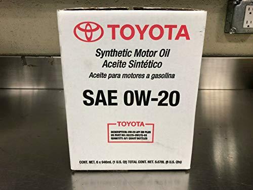 Toyota/ exxon mobil Case of 6 Quarts Full Synthetic  TGMO SN 0W-20 Oil