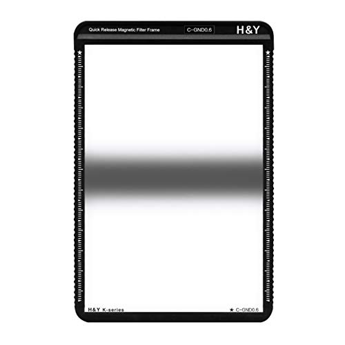 H&Y 100x150mm HD MRC Center Graduated Neutral Density 0.6 Square Filter (2-Stops) with Magnetic Filter Frame for 100mm K-Series Filter Holder