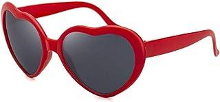 Effect brillen Diffractie bril hart vorm eyewear zonnebril voor Outdoor partijen Rood van het Vuurwerk