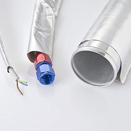 Arlows 1 Meter Alu Kevlar Hitzeschutzschlauch Innendurchmesser 75mm Auto