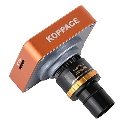 KOPPCE 21 Million Pixel,HDMI Microscope Camera,0.5X Adjustable Focus Industrial Camera Adapter Electronic Eyepiece,23.2mm to 30mm and 30.5mm Adapter