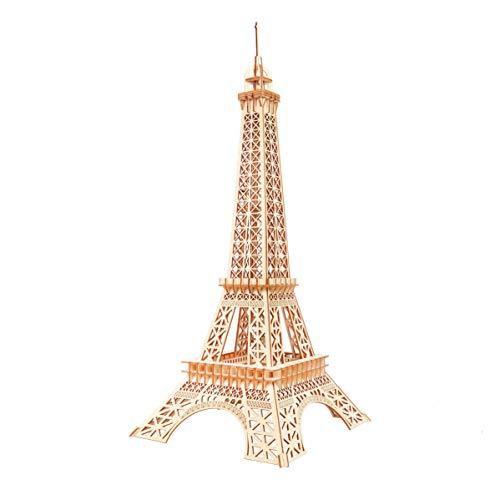 GuDoQi 3D Holz Puzzle, Modell Eiffelturm, Holzarchitektur-Modellbausätze zum Bauen, DIY Montage Holzpuzzle Spielzeug, Bastelset, Geburtstags Geschenk aus Holz fur Erwachsene und Jugendliche