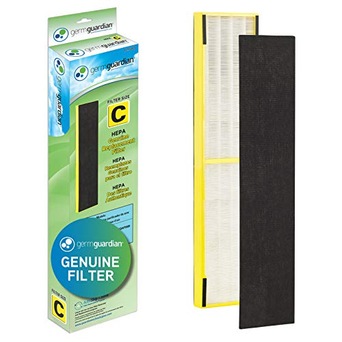 GermGuardian Air Purifier Filter FLT5000 GENUINE HEPA Replacement Filter C for AC5000, AC5000E, AC5250PT, AC5350B, AC5350BCA, AC5350W, AC5300B Germ Guardian Air Purifiers