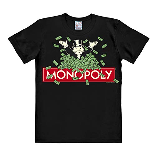 Logoshirt Camiseta Monopoly - Camiseta con Cuello Redondo Negro - Diseño Original con Licencia, Talla XXL