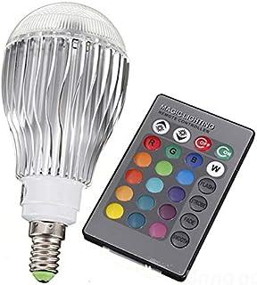 SGJFZD RGB LED Lamp 10W 85-265V E14 LED RGB LED Light Bulb 110V 120V 220V LED Soptlight Remote Control 16 Colors Changeabl...