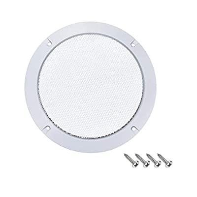 "sourcing map 6.5"" Speaker Grill Mesh Decorative Circle Woofer Guard Protector Cover Audio Accessories White by sourcing map"