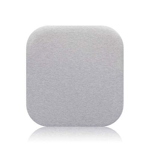 XMJG Super Soft Cushion, Comfort Durable Memory Foam Seat Cushion Detachable Chair Pads with Zipper for Living Room Restaurant Office-45x45x4cm(18x18x2inch)-gray