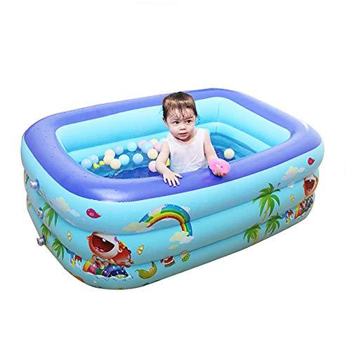 WDDMFR Piscina familiar hinchable grande, rectangular, para niños, adultos, jardín y exteriores, a partir de 3 años