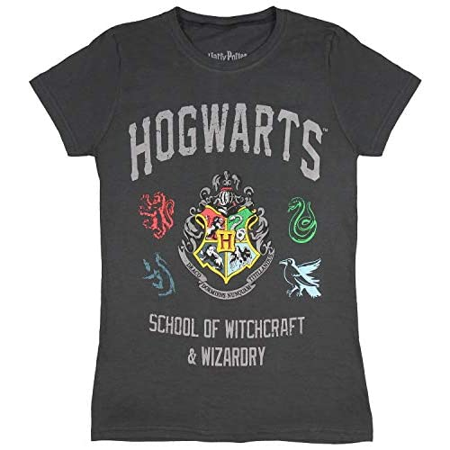 Harry Potter Juniors Hogwarts Scuola di magia e Stregoneria House Crest T-Shirt (Piccolo)