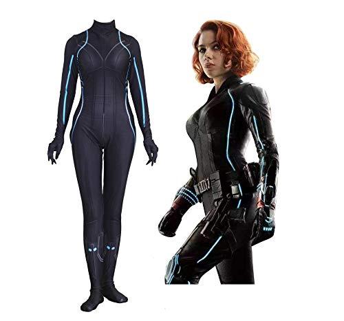 CXYGZLJ 3D Avengers Body Widow Body, Pelcula para Adultos Natasha Romanoff Body Stretch Body Halloween Cosplay Disfraz Disfraz Fancy Vestidos Onesies,Black Widow-Women XXL