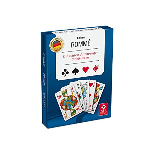 ASS Altenburger 22570073 - Romme mit Leinenprägung, Kartenspiel