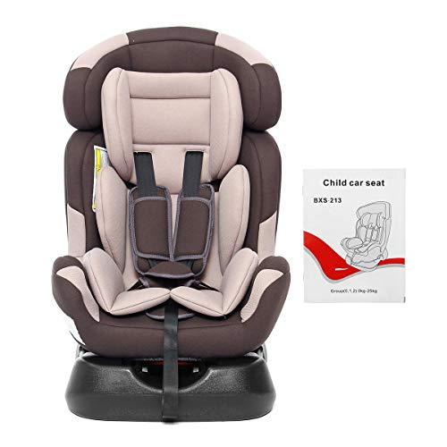 IUEFINUEN Coche reclinado bebé niño Seguridad Asiento Trasero hacia adelante orientación para niños 0 Meses a 7 años