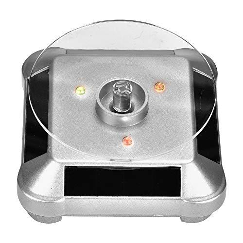 Zetiling Solarbetriebener drehender Ausstellungsstand, 360 Plattenspieler-drehende Schmuck-Uhr-Handys Ring-Ausstellungsstand Solar- und batteriebetrieben (1#)