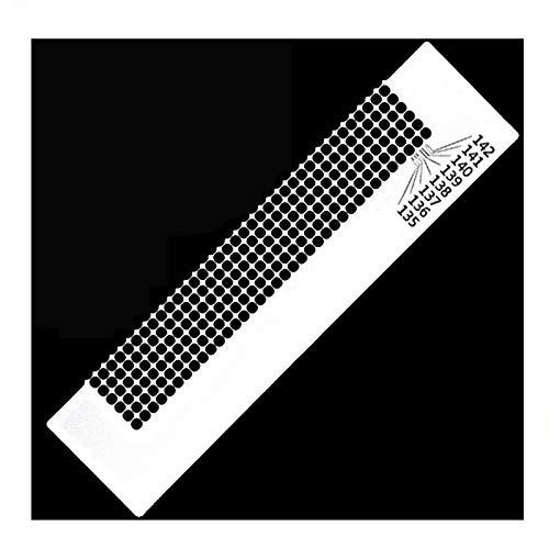 Xinlie Diamond Painting Tool Diamond Screen Ruler Steel Ruler Blank Grids Round Full Drill Kit Tools Regla de Bordado de Diamante de Acero Diamond Painting Net Ruler (6 Filas con 216 Agujeros)