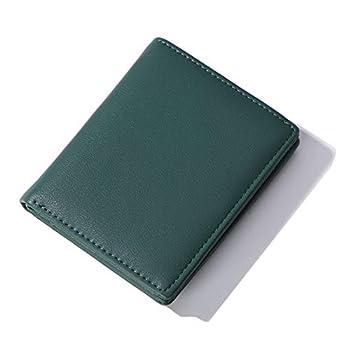 AnnabelZ Women Wallets Small Bifold Leather Pocket Wallet Ladies Mini Short Purse  Dark Green