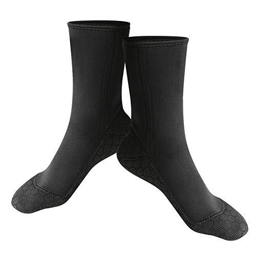 Calcetines de Buceo,3 mm Calcetines de Agua de Secado Rápido Calcetines de Snorkel de Neopreno Equipo para Deportes Acuáticos (L)