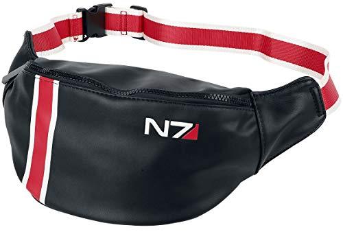 Mass Effect N7 Unisex Gürteltasche Standard 100% Polyurethan Fan-Merch, Film, Gaming