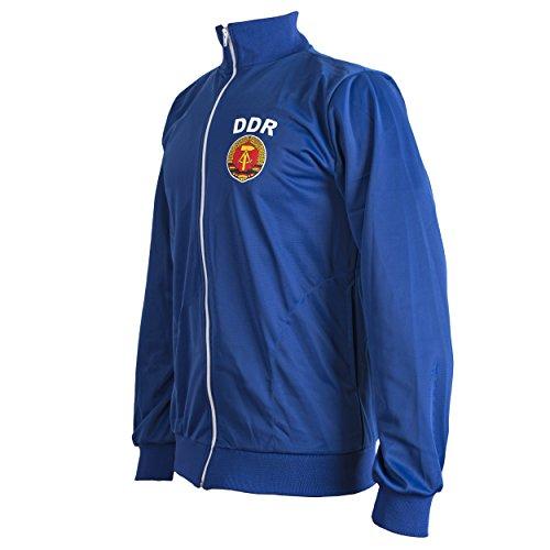 JL Sport Deutsche Demokratische Republik Osten Deutschland DDR 1970's Jahre Retro Fußball Jacke Trainingsanzug mit Reißverschluss Pulli Man Top - Blau, L