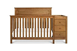 This image shows DaVinci Autumn 4-in-1 Crib that is the best crib with changing table in my review