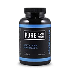 FOR GOOD TIMES AND GOOD HEALTH: Our specially formulated all-natural fiber blend works with your body's natural process to promote gut health and cleanliness. Stay ready to feel cleaner and more confident with Pure for Men. PROMOTES DIGESTIVE CLEANLI...