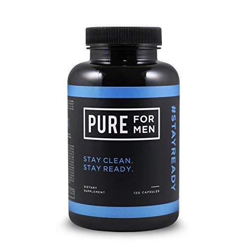 Pure for Men - El suplemento original de fibra de limpieza vegana - Fórmula patentada comprobada (120 Cápsulas Con Aloe)