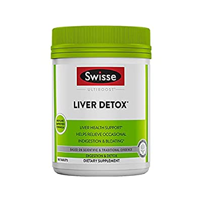 Swisse Ultiboost Liver Detox   Supports Liver Health & Function   Provides Relief for Indigestion & Bloating   Milk Thistle, Artichoke & Tumeric