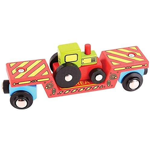 Bigjigs Rail Wagon à Plancher surbaissé pour Tracteur
