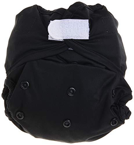 Rumparooz Couche en tissu avec système de fermeture Aplix Noir Taille unique