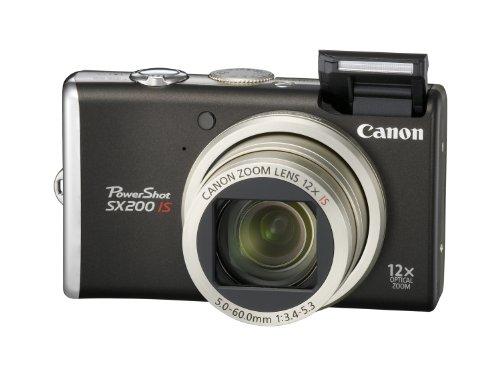 Canon PowerShot SX200 IS Digitalkamera (12 MP, 12-fach opt. Zoom, 7,6cm (3 Zoll) Display) schwarz