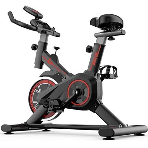 YUESFZ Cyclette Spin Bike Stepper Nero di Perdita di Peso della Famiglia Soggiorno Bici Sportiva Silenziosa Attrezzature per Il Fitness al Coperto (Color : Black, Size : 86 * 45 * 110cm)