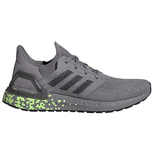 adidas Ultraboost 20, Men's Competition Running Shoes, GREY THREE F17/CORE BLACK/SIGNAL GREEN, 7 UK (40 2/3 EU)