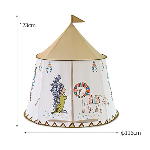 Nice2youインディアン子供テント部落キャッスル遊具部屋おもちゃ折り畳み式玩具収納秘密基地知育玩具プレゼントキッズテント