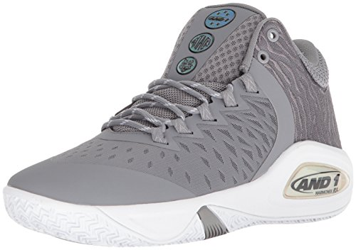 AND1 Herren Attack Mid, Legierung/Super Folie/Weiß, 39.5 EU