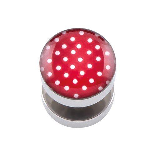 PIERCINGLINE® Falsa dilatación en Acero quirúrgico Puntos 10 mm Rojo