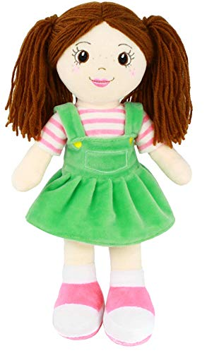 "Playtime by Eimmie Soft Rag Doll - 14"" First Baby Doll for Kids - Plush Baby Toy - Safe for All Ages (Allie)"