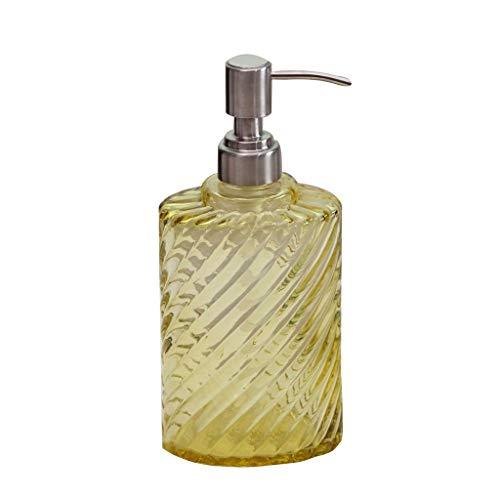 Hong Yi Fei-Shop Dispensador de Jabón Prensa de la Mano la Botella de Cristal de jabón de Gran Capacidad Botella Gel de Ducha cosmética for llenar Botellas vacías Dispensador Automático de Jabón