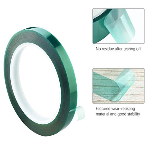 """APT,2 Mil Polyester Tape with Silicone Adhesive, PET Tape, high Temperature Tape, 3.5 mil Thickness, Powder Coating, E-Coating (1, 0.5"""" x 72Yds) Photo #2"""