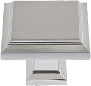 Atlas Homewares 289-PN 1-1/4-Inch Sutton Square Knob, Polished Nickel