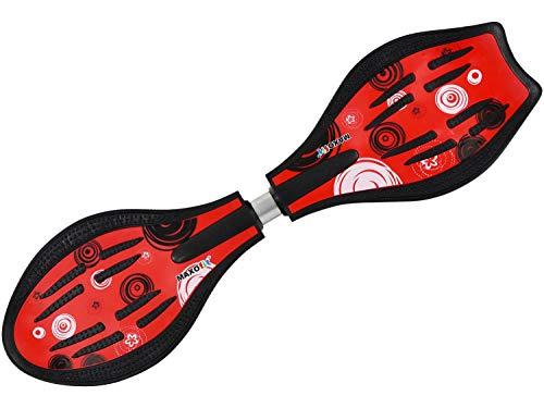 Waveboard Original MAXOfit DELUXE XL PRO Close Style, bis 110 kg, TÜV/GS certificato, Rosso (rot), 85 x 25 x 13