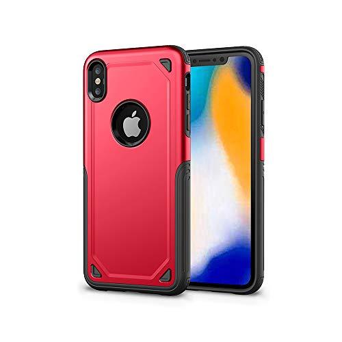 ZHYLIN - Carcasa para iPhone 6, 7 y 8 Plus, TPU anticaídas, carcasa rígida para iPhone X, XS, XR, XSMax, a prueba de golpes, silicona, Rojo, iPhoneX/XS