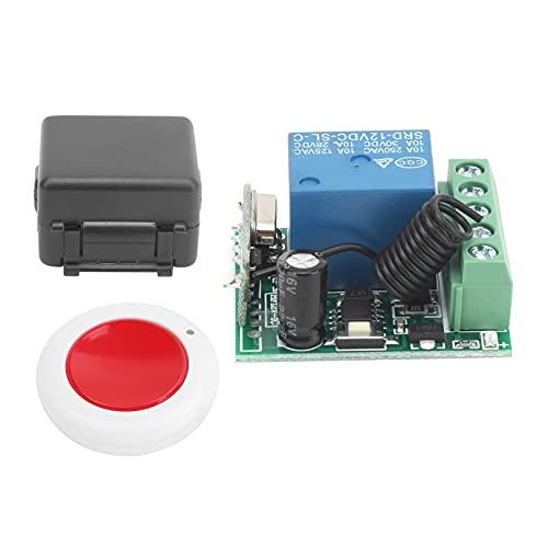Dc 12v módulo de relé de un solo canal Rf receptor de interruptor inalámbrico + kit de transmisor de control remoto, control remoto portátil, para puertas de garaje, puertas retráctiles con control re