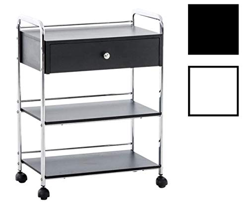 CLP Kosmetik-Gerätewagen PL912 mit Schublade I Arbeitswagen für den professionellen Einsatz I erhältlich, Farbe:schwarz