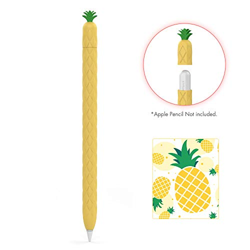 AhaStyle iPencil Case Sleeve Cute Fruit Design Silicone Soft Protective Cover Accessories Compatible with Apple Pencil 2nd Generation, iPad Pro 11 12.9 inch (Yellow)