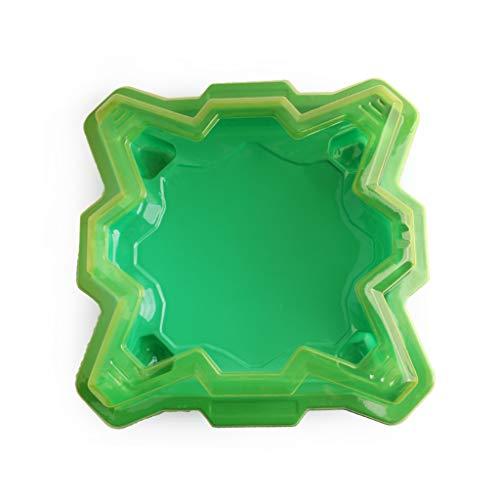 SUCHUANGUANG Green Plastic Gyro Battle Disc Arena Gyro Plate Toy per Bambini Bambini Giocattolo educativo Intelligente Accessori ABS Plastica Gyro Battle Disc
