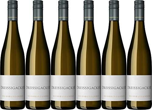 6x Dreissigacker Weißburgunder 2019 - Weingut Dreissigacker, Rheinhessen - Weißwein