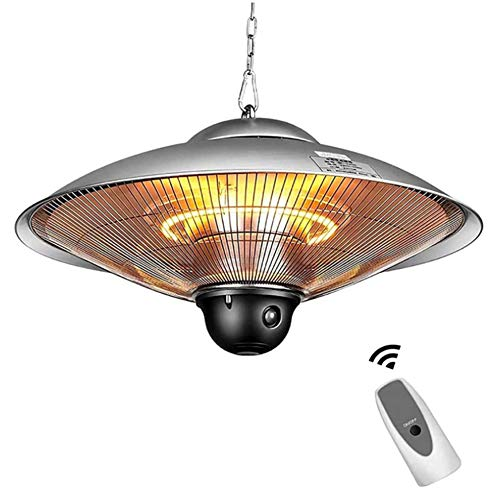 DHFD Stufa Elettrica da Esterno a Soffitto, Lampada Infrarossi Radiante, Lampada a Infrarossi, Riscaldatore a Infrarossi, Riscaldamento IR Comfort, 2000W