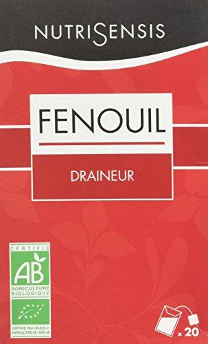 NutriSensis Fenouil Draineur Infusions 20 Sachets Bio 40 g - Lot de 3
