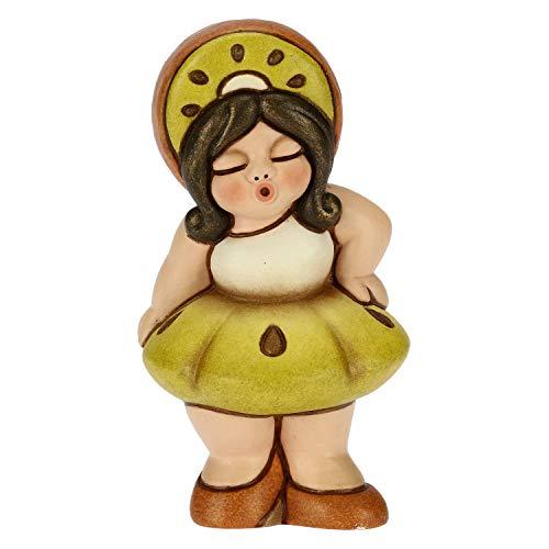 THUN - Soprammobile Bimba con Costume da Kiwi - Accessori per la Casa da Collezionare - Linea Thunibelle - Formato Piccolo - Ceramica - 4,3 x 3,8 x 8,3 h cm