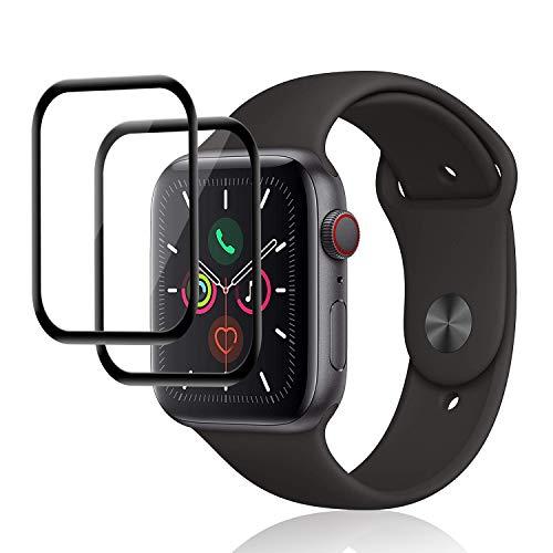 DOSNTO Protector de Pantalla para Apple Watch Pantalla Completa Curva 3 Unidades, Anti-rasguños Cristal Templado, Templado película Protectora, Advanced HD Fingerprint Free