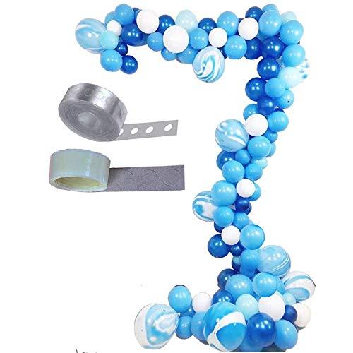 ZHAOYONGBING Latex-Ballon-Bogen-Set-Partei-Hochzeit Dekoration Liefert Balloon Kettensatz Blue